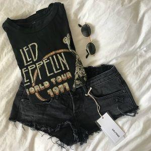 GRLFRND Josie Shorts Grey Cutoff Denim Shorts